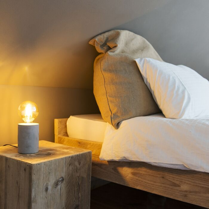 Moderne-tafellamp-grijs---Bloque