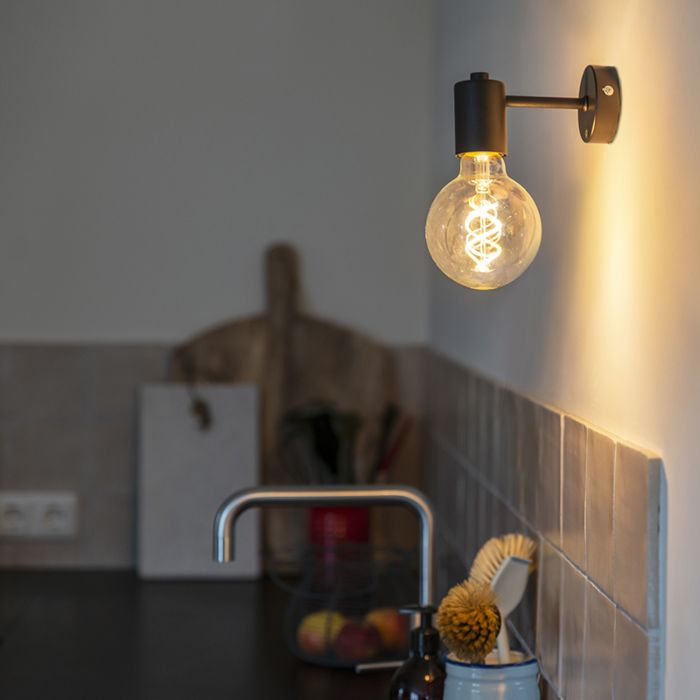 Industriële-wandlamp-zwart---Facil-1