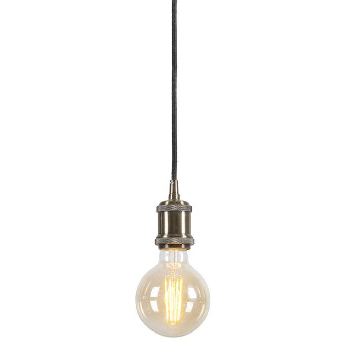 Moderne-hanglamp-brons-met-zwart-kabel---Cava-Classic