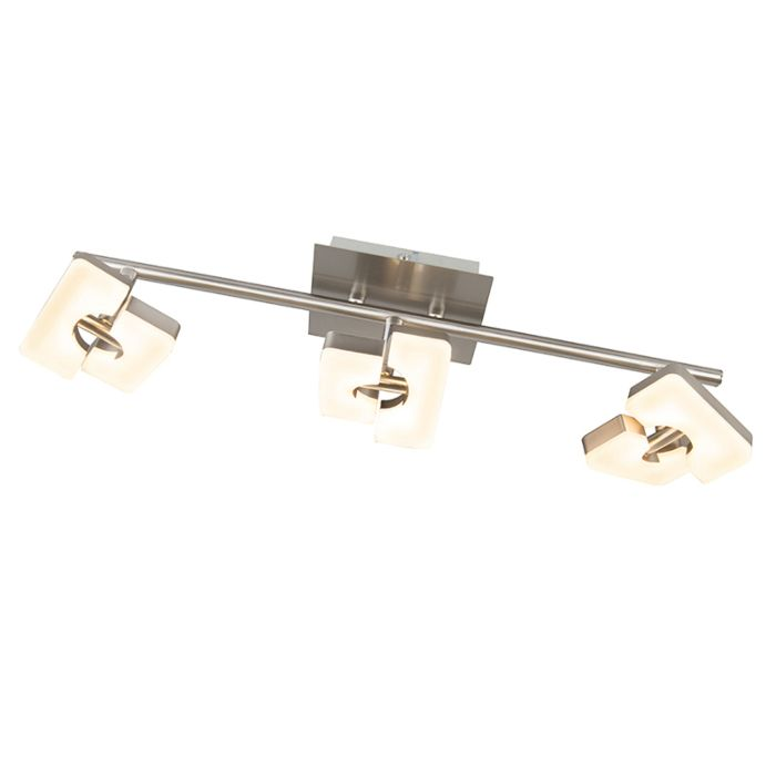 Moderne-spot-staal-verstelbaar-incl.-LED---Twin-3