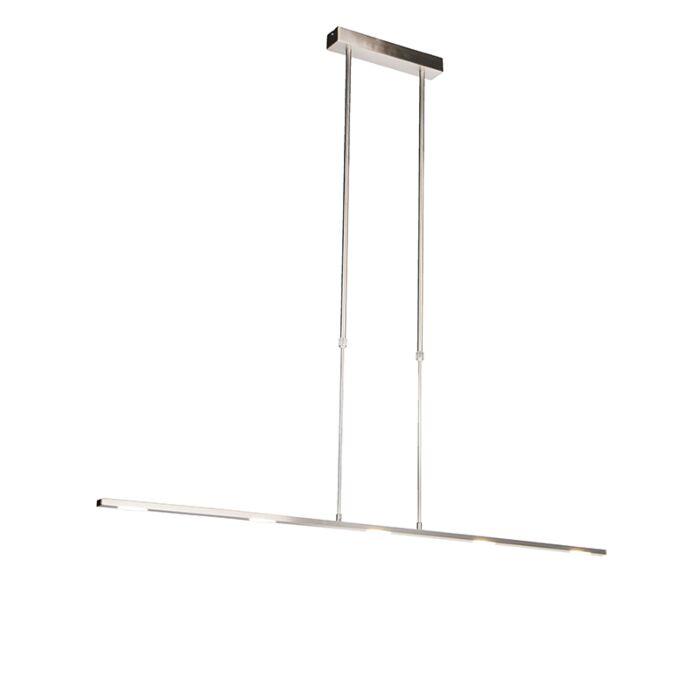 Moderne-hanglamp-staal-incl.-LED,-verstelbaar---Bold