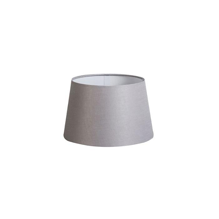 Kap-25cm-rond-DS-E27-linnen-lichtgrijs