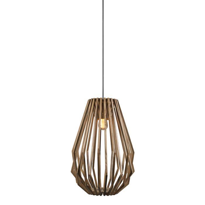 Hanglamp-Loro-hout