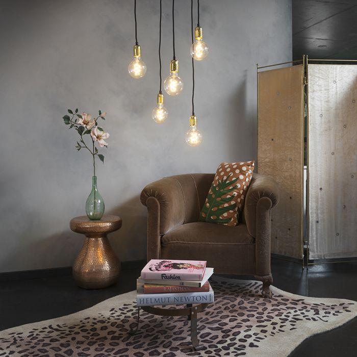 Moderne-hanglamp-goud-dimbaar---Cava-5