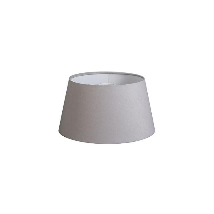Kap-32cm-rond-DS-E27-linnen-lichtgrijs