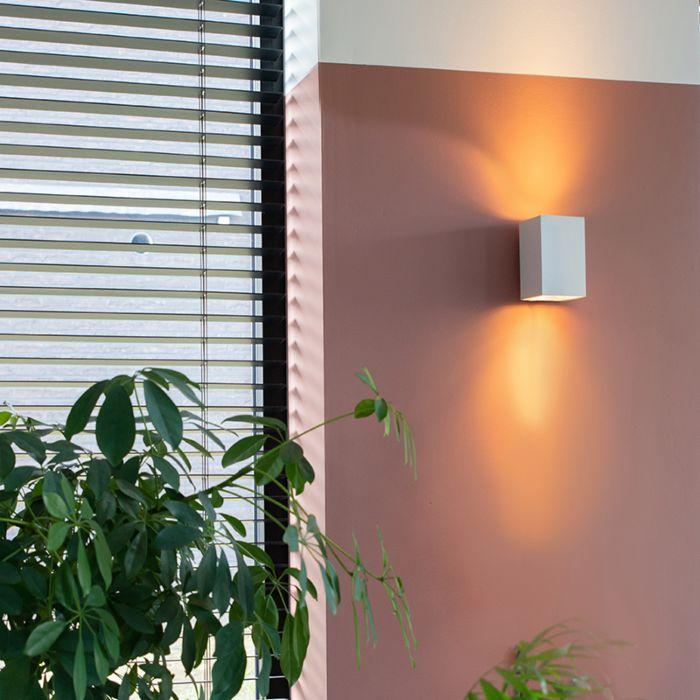 Moderne-wandlamp-vierkant-wit---Sandy