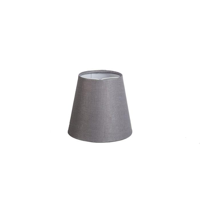Linnen-klemkap-grijs-12-cm-rond