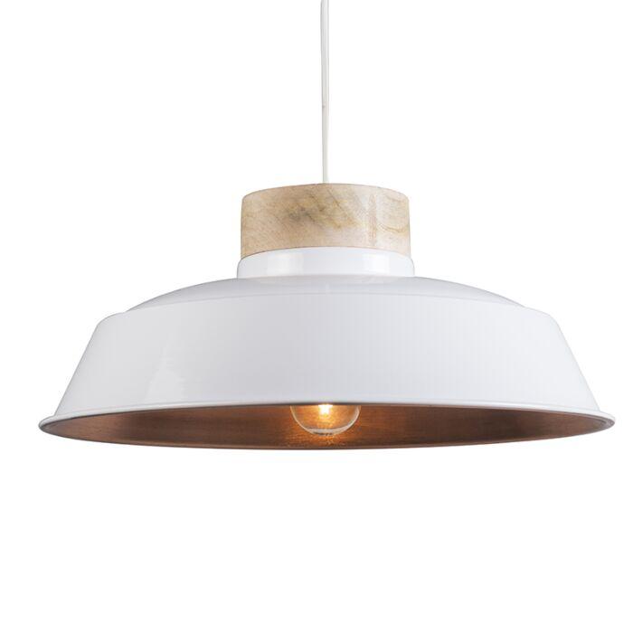 Hanglamp-Davide-wit-met-koper