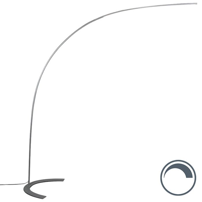Design-booglamp-grijs-incl.-LED---Piegato