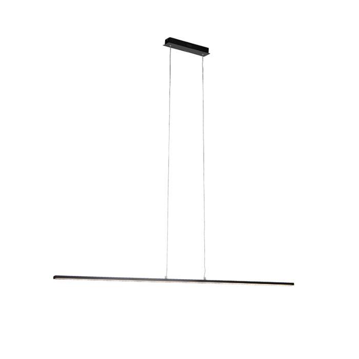 Moderne-zwarte-hanglamp-150-cm-incl.-LED---Banda