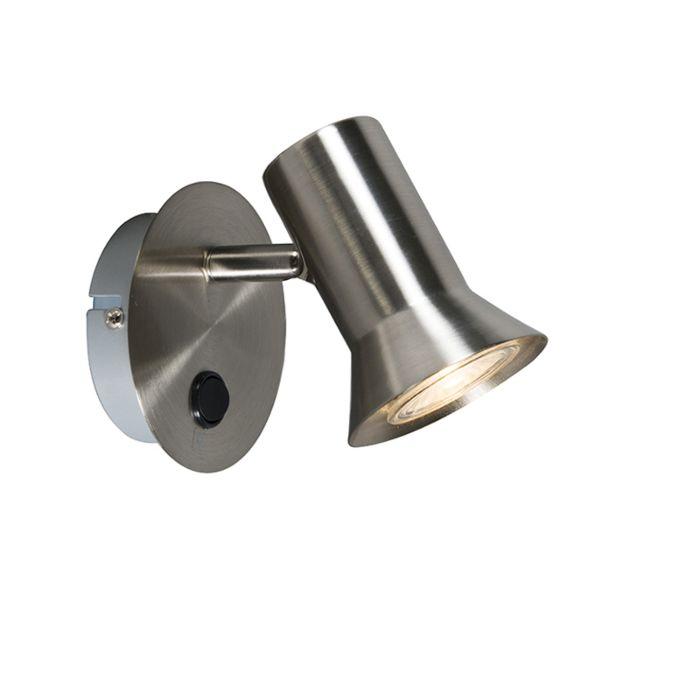 Wandspot-staal-draai--en-kantelbaar-met-schakelaar---Karin-1
