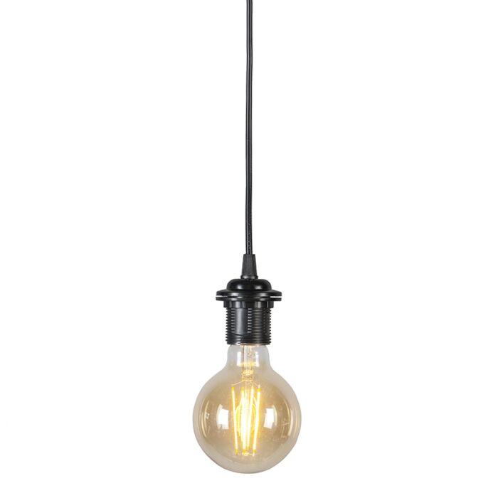 Pendel-80-cm-E27-zwart
