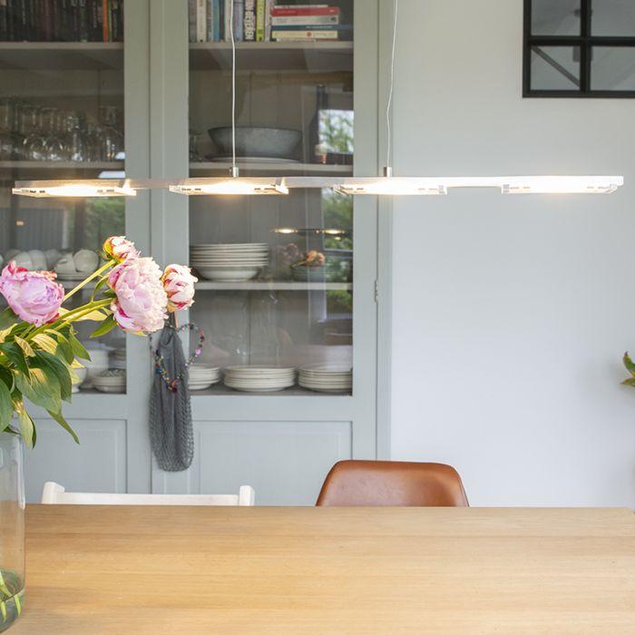 Hanglamp-staal-met-glasplaat-incl.-LED-met-dimmer---Vitro