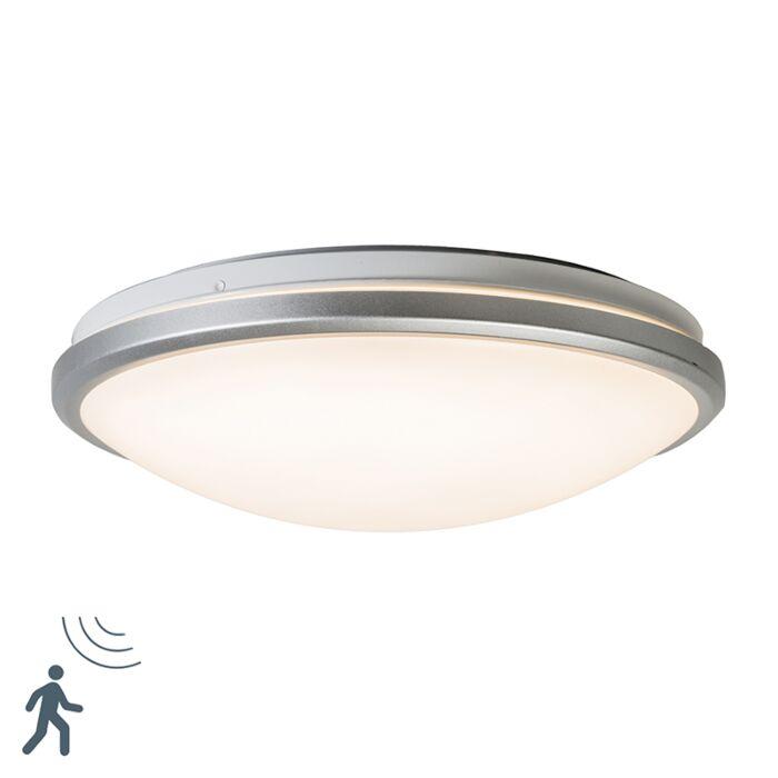 Plafonnière-grijs-incl.-LED-en-bewegingsmelder---Captur