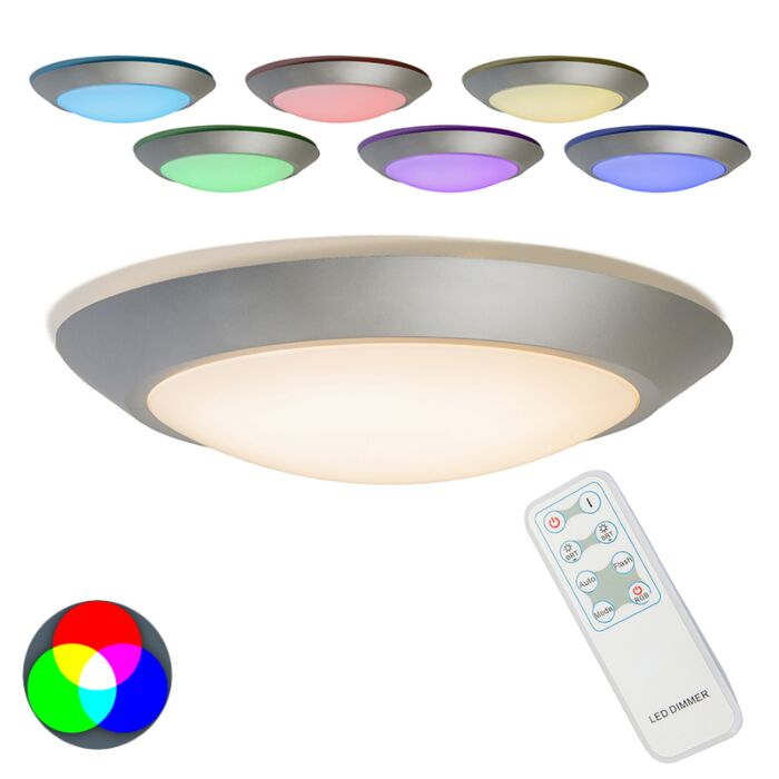Plafonniere-Captur-RGB-LED-grijs-met-afstandbediening