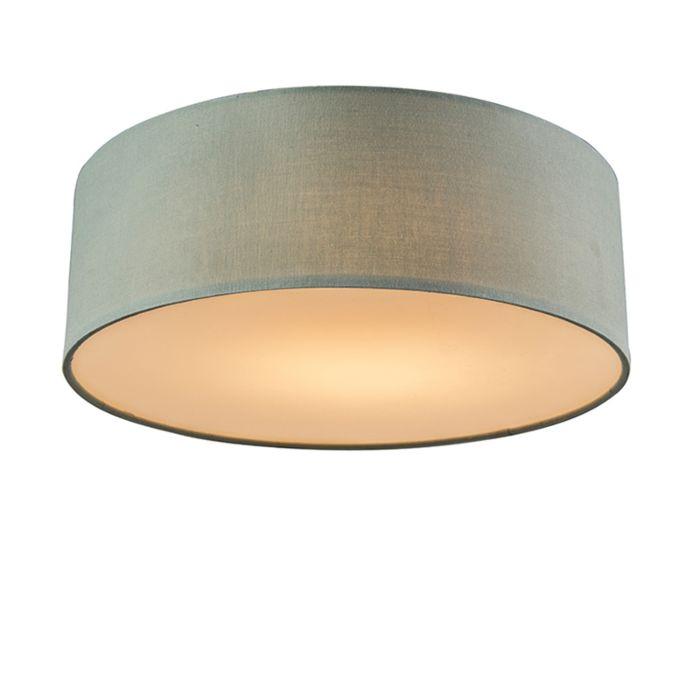 Plafondlamp-groen-30-cm-incl.-LED---Drum-LED