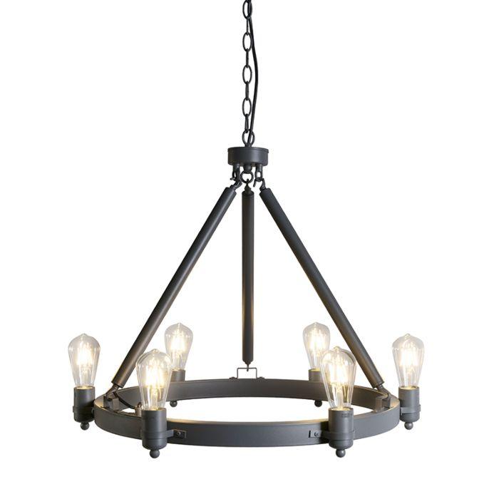 Hanglamp-Stello-donker-grijs-E27