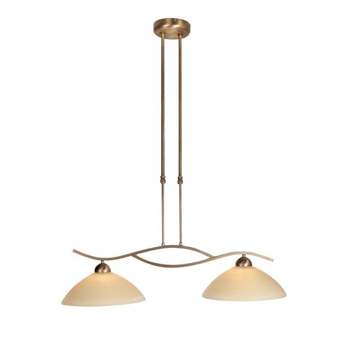 Klassieke-hanglamp-brons-met-schuifstang-2-lichts---Corsaire