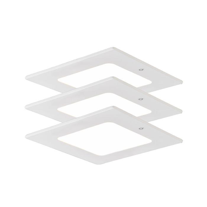 Inbouwspot-Radem-vierkant-4W-set-van-3