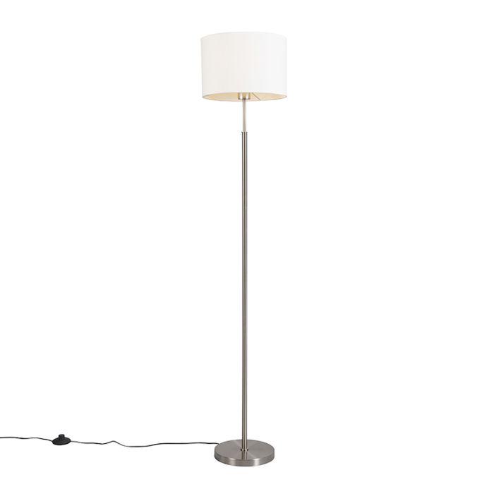 Moderne-vloerlamp-rond-wit---Vloerlamp-VT-1-