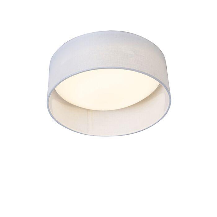 Plafondlamp-wit-28-cm-incl.-LED---Drum-Combi