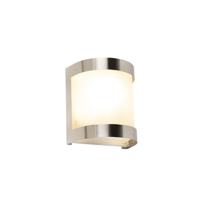 Moderne-buitenwandlamp-RVS-IP44---Mira