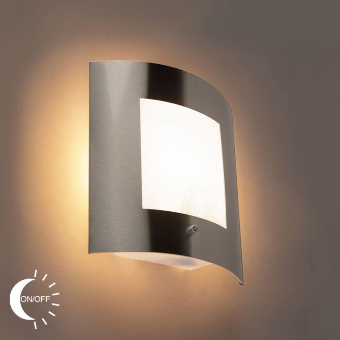 Buitenwandlamp-staal-IP44-licht-donker-sensor---Emmerald-1