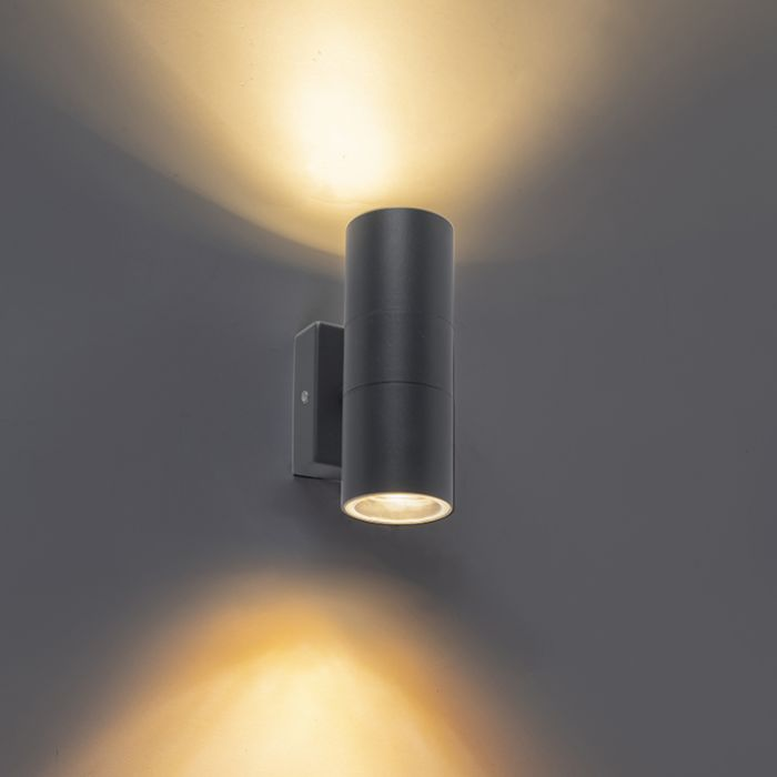 Buitenwandlamp-antraciet-IP44---Duo