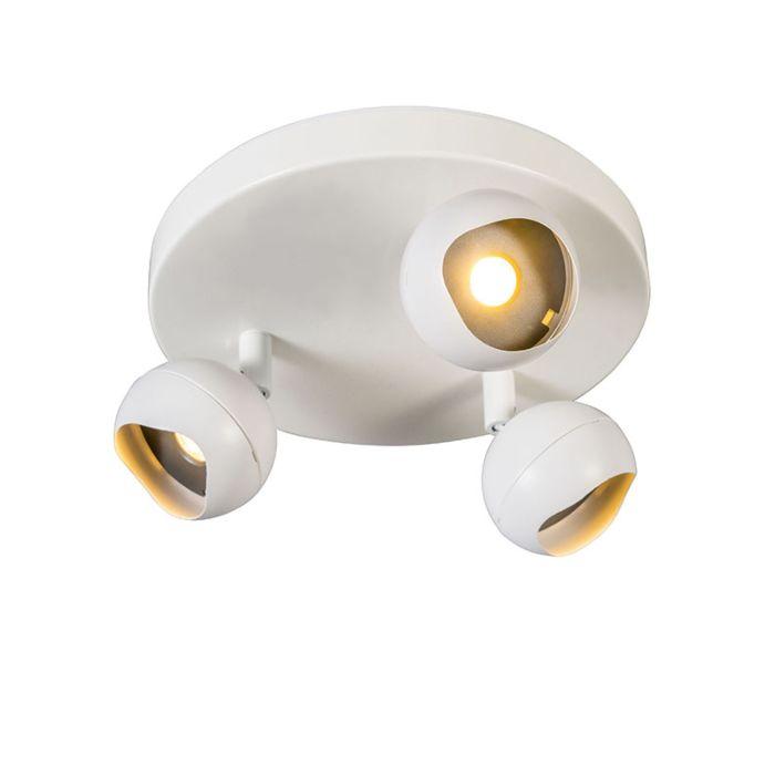 Spot-Gloob-3-LED-3000K-rond-wit