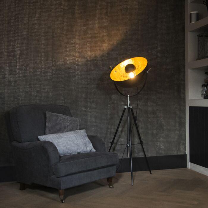 Moderne-vloerlamp-mat-zwart---Magna-50-