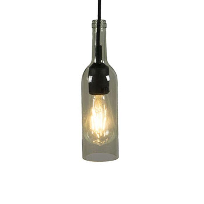 Hanglamp-Bottle-licht-groen