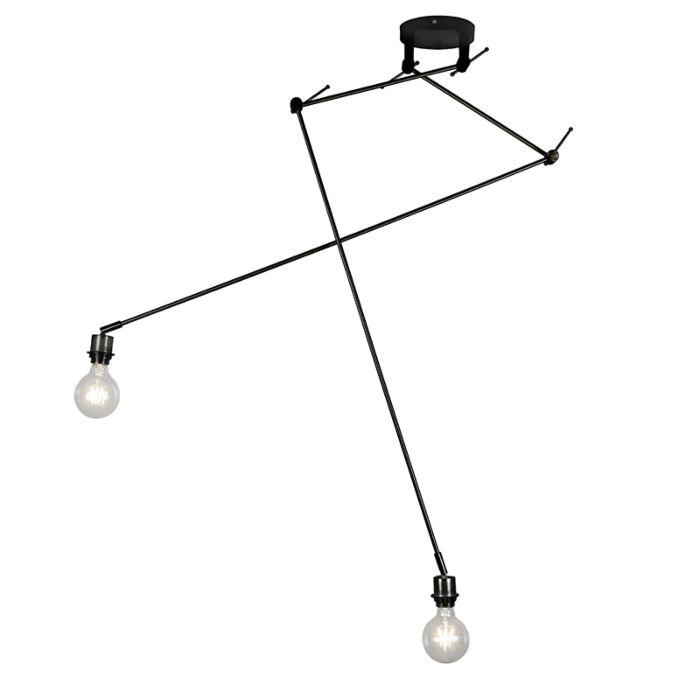 Moderne-hanglamp-zwart-zonder-kap---Blitz-II