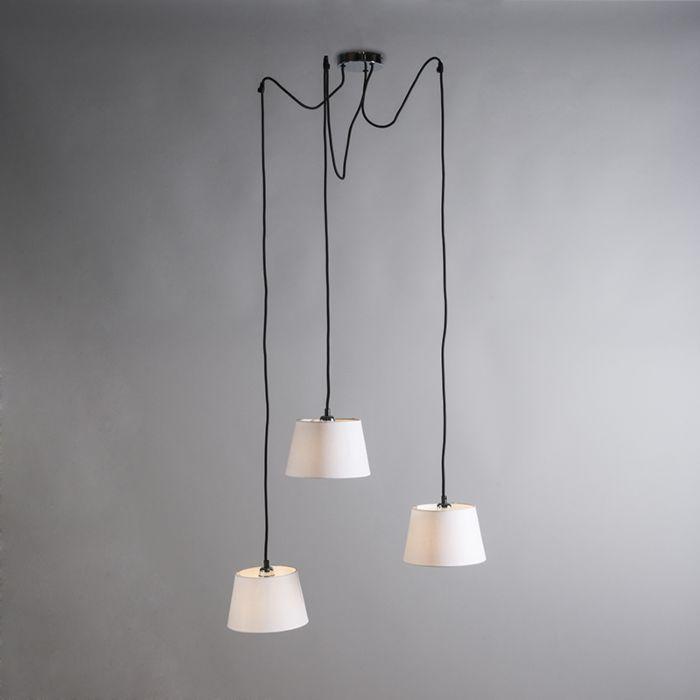 Hanglamp-Cava-3-chroom-met-witte-kappen