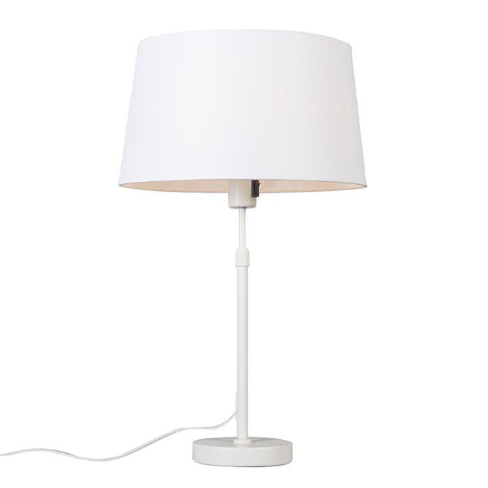 Tafellamp-wit-met-kap-wit-35-cm-verstelbaar---Parte