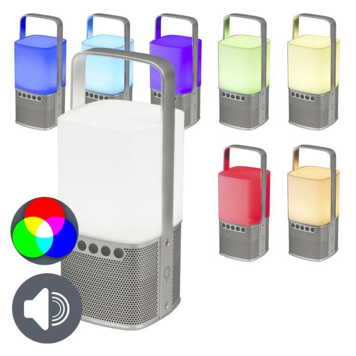 Bluetooth-speaker-met-LED-en-powerbank-zilver