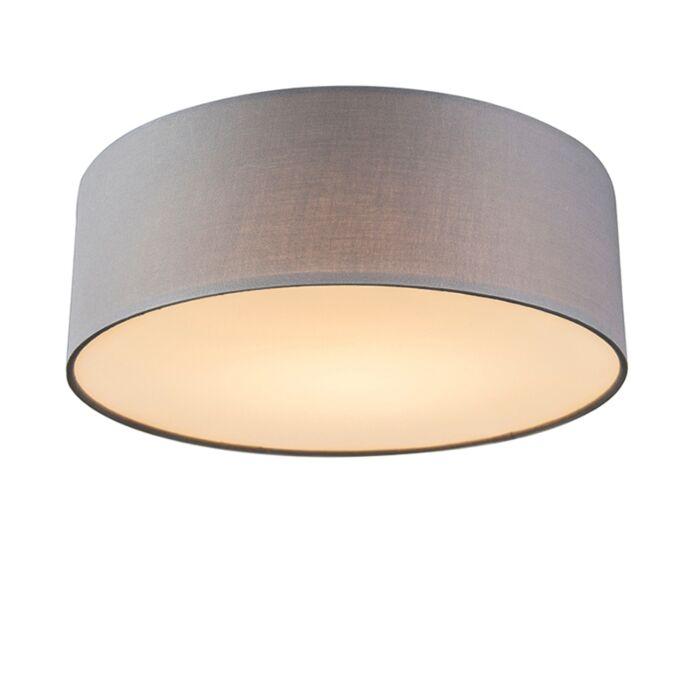 Plafondlamp-grijs-30-cm-incl.-LED---Drum-LED