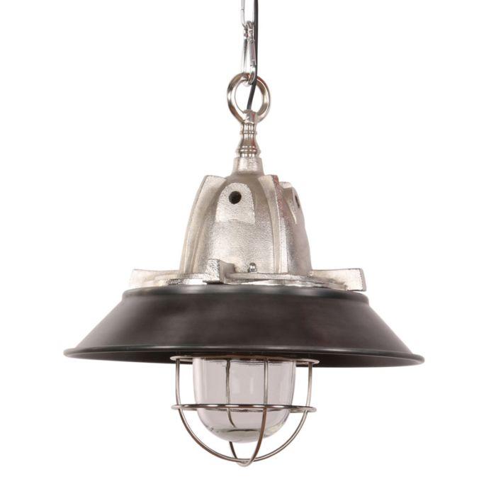 Industriële-hanglamp-zwart-met-aluminium---Floris
