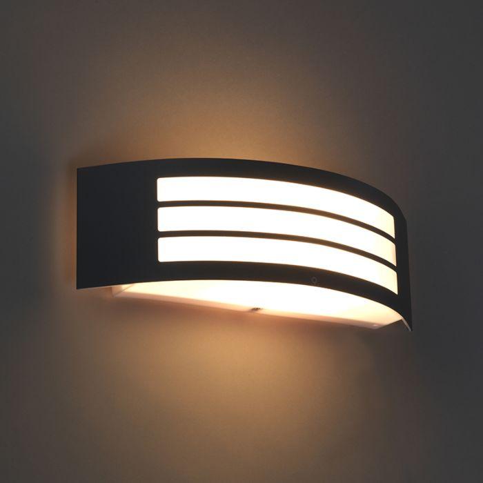 Moderne-wandlamp-donker-grijs-IP44---Sapphire-Deluxe