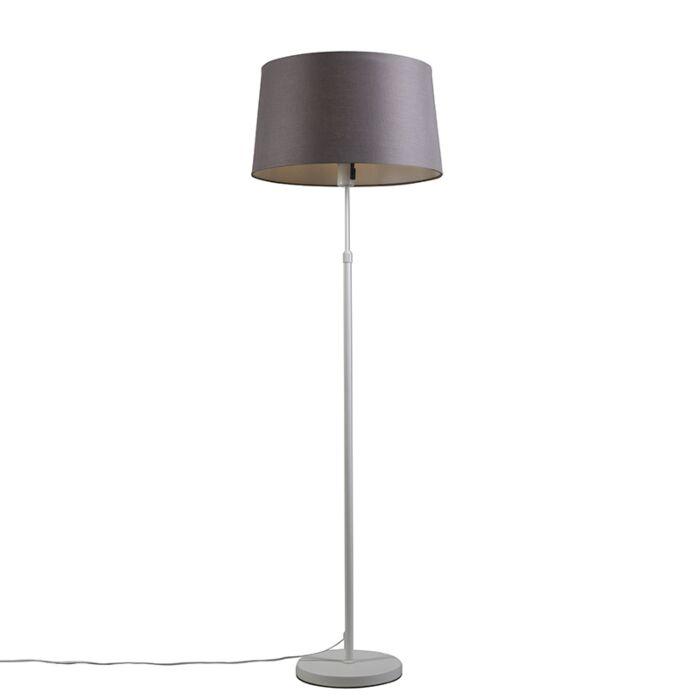 Vloerlamp-wit-met-kap-grijs/bruin-45-cm-verstelbaar---Parte