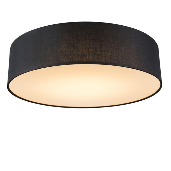Plafondlamp-zwart-40-cm-incl.-LED---Drum-LED