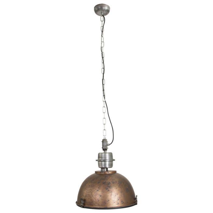 Industriële-hanglamp-antiek-bruin-met-staal---Gospodin