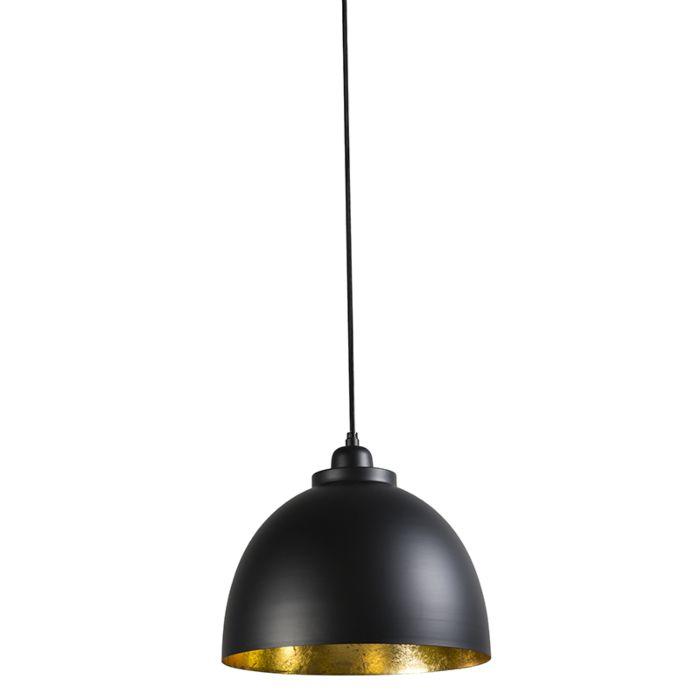 Hanglamp-Hoodi-small-zwart-goud