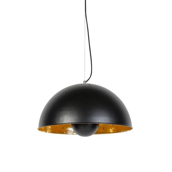 Industriële-hanglamp-zwart-met-goud-50-cm---Magna-Eglip