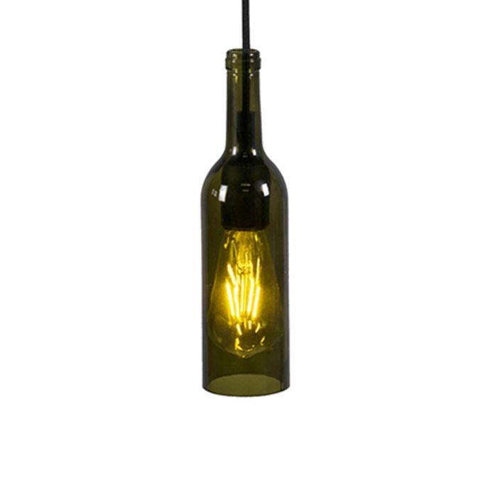 Hanglamp-Bottle-donker-groen