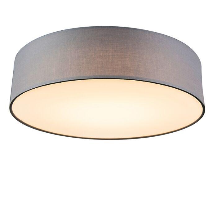 Plafondlamp-grijs-40-cm-incl.-LED---Drum-LED