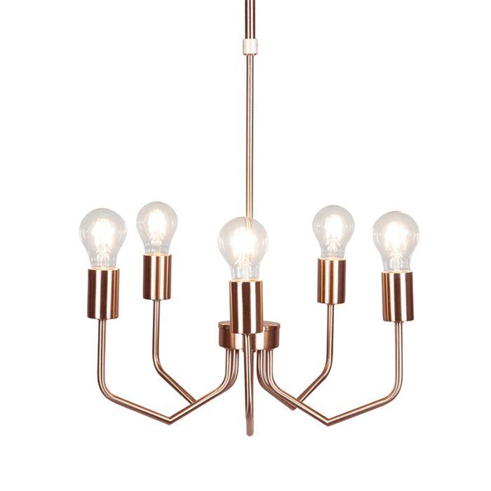 Hanglamp-Ritz-5-koper