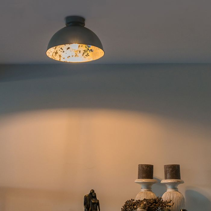 Plafondlamp-grijs-met-zilver-30-cm---Magna-Basic