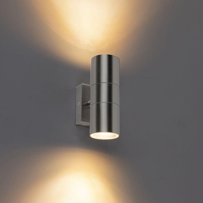 Buitenwandlamp-staal-IP44---Duo