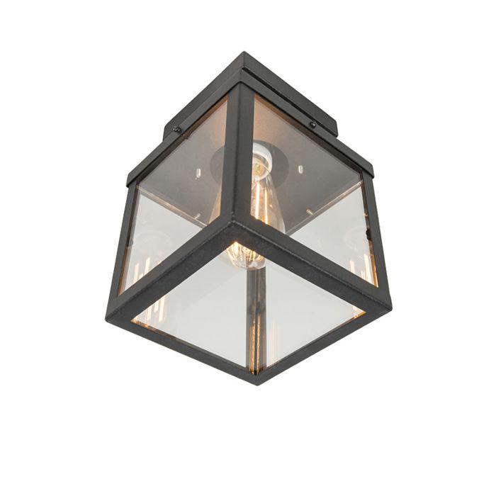 Industriële-buitenplafondlamp-zwart-1-lichts---Rotterdam