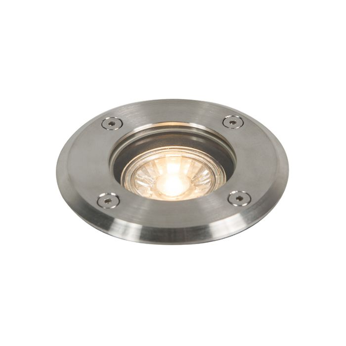 Buiten-grondspot-staal-11cm-IP67---Basic-Round